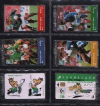 Phonecards set of 6 Telephone cards RUGBY South Africa